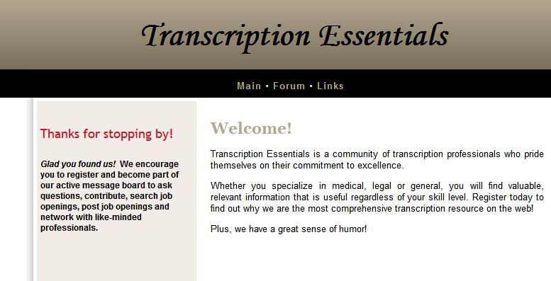 Transcription Forum