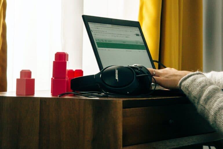woman transcribing files on CastingWords