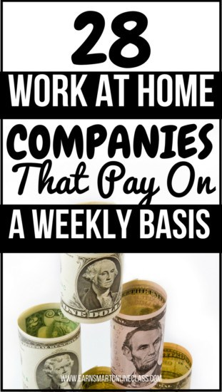 Are you pressed for cash and are looking for work at home jobs that pay weekly? If you are then you are at the right place! I know just how difficult it can be when you want to do something and you luck the funds to do it. That's why I have put together a list of 28 work-at-home companies that will pay you once or twice a week from the comfort of your couch, so as to ease the financial constraint. Not all these work from home companies will be hiring but a handful will. So, check them out, select a few and start earning this week! Good luck!