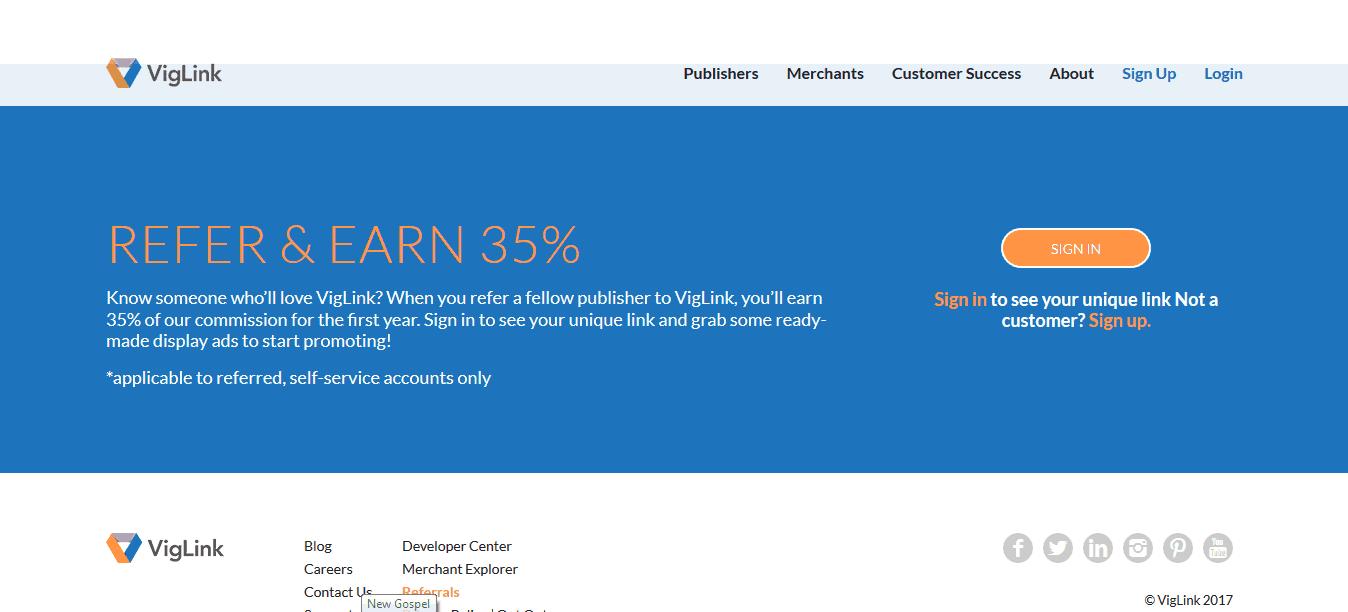 Viglink affiliate network
