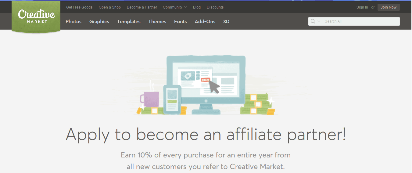 creative market affiliate program
