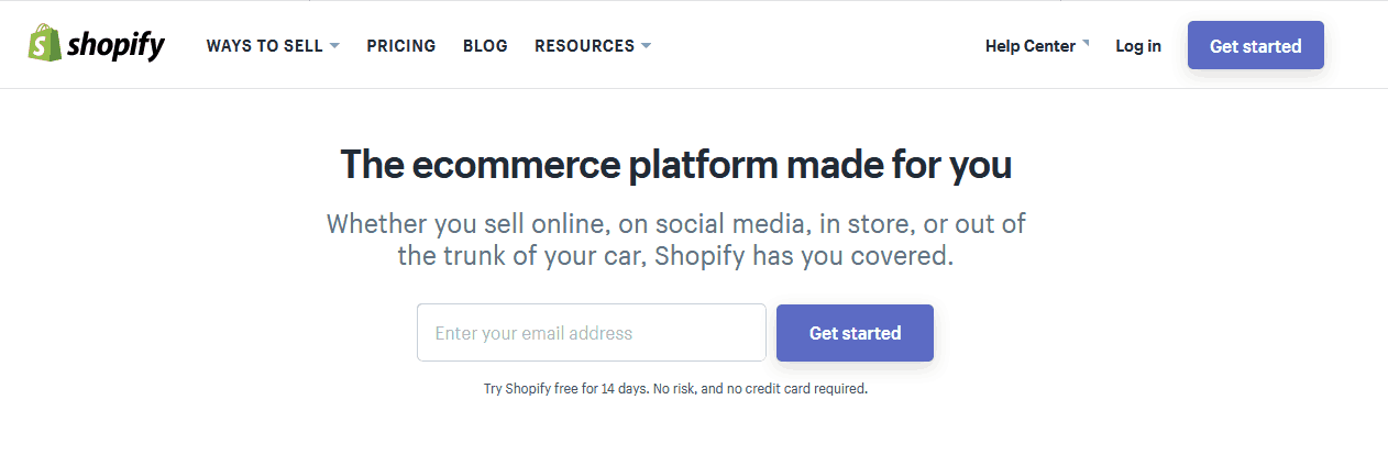 working from home with an online shopify store