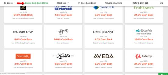 ebates_double_cash_back_stores
