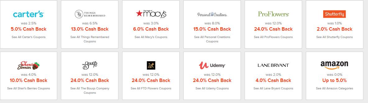 ebates online stores