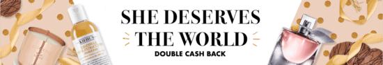 mother's day double cash back at Rakuten