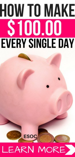 """How to Make $100 Per Day. If you are behind on your bills and are wondering how you can make $100 per day, then this post is for you. For years, I struggled with debt and paying rent or buying simple things like groceries was a pain I felt every single day. I wondered how I could make money online fast and pay a pile of bills that was sitting on my kitchen counter. Luckily, as I was searching the internet, I came across 18 simple but effective ways that could earn me money online fast. """"What a relief!"""" I said to myself. This meant that I didn't have to wait or depend on my overstretched salary. I was able to pay my bills on time and buying groceries was no longer a big hustle. Well, this may not seem like much to some, but to me, it was the best thing that could have happened at that moment. I know, you are reading this post because you want to find out how you can make $100 per or more. And I'm going to show you simple tasks or actions that you can take today to potentially make you $100 per day. Best part? You don't have to worry about initial investments. These are quick and clever ways to earn money online without paying anything."""