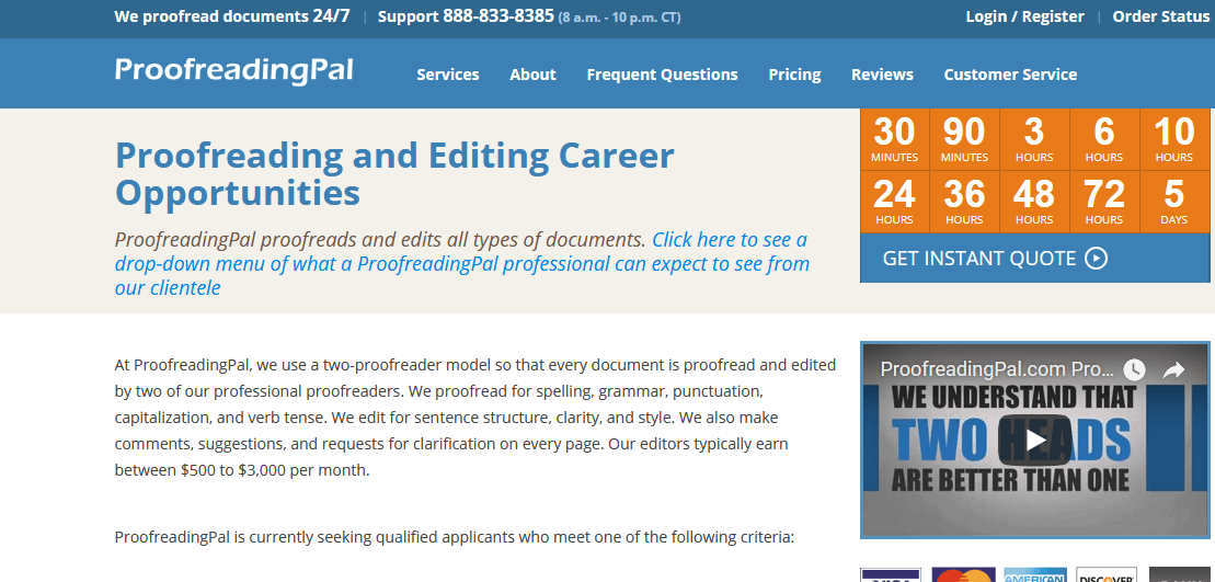 This web site gives free services that are proofreading