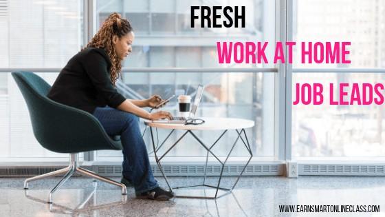 fresh work at home job jobs