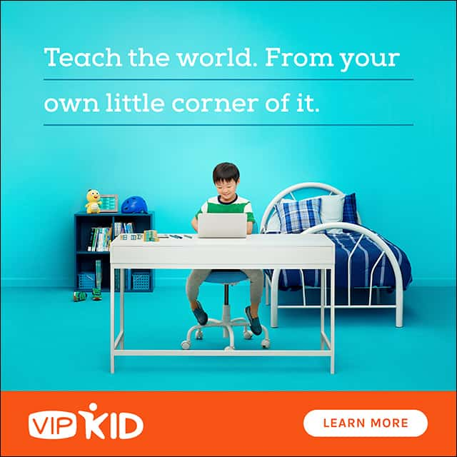 work from home teaching English at VIPKid
