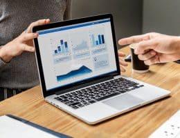 laptop showing paid online surveys