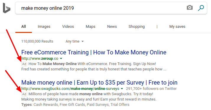 cpa offers on bing
