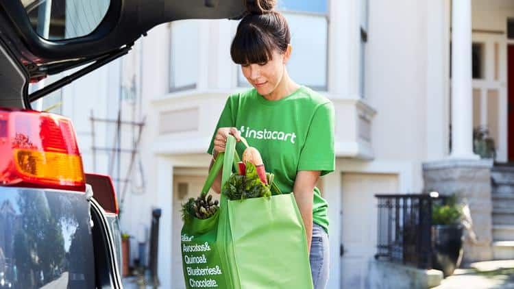 instacart groceries car delivery