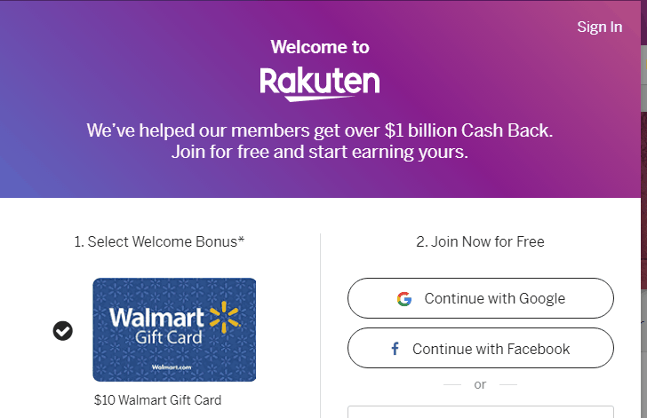Rakuten cash back