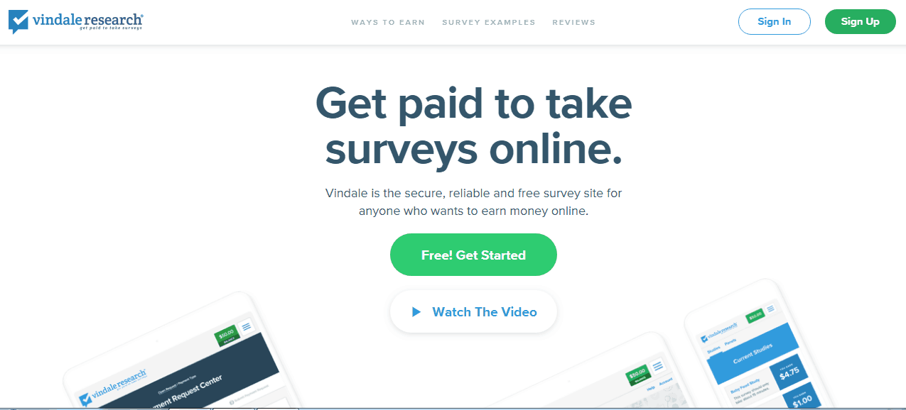 get paid to take surveys online from vindale research