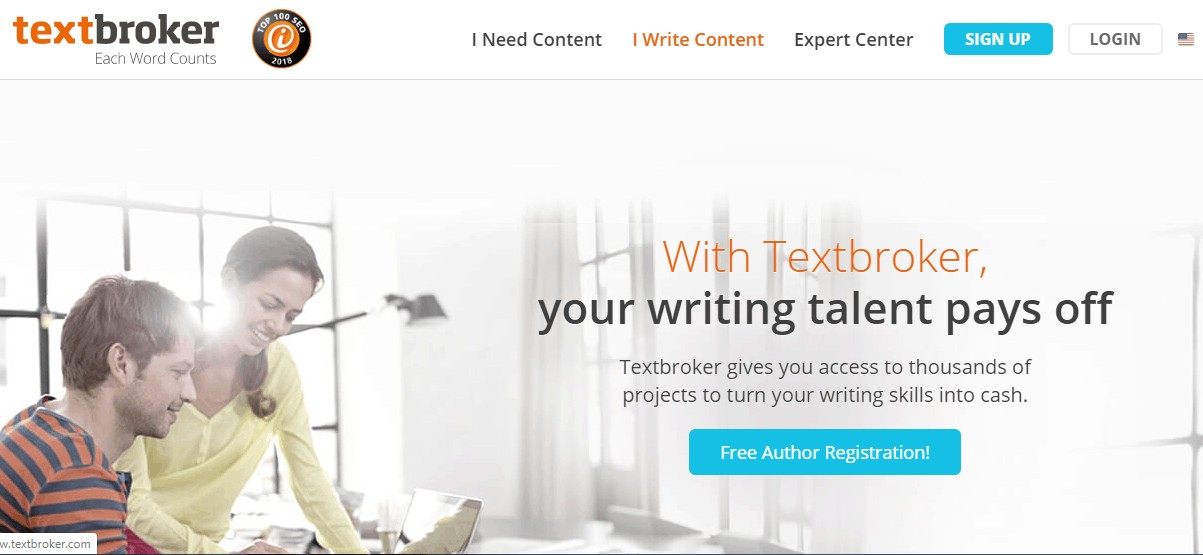 get paid to write articles at textbroker