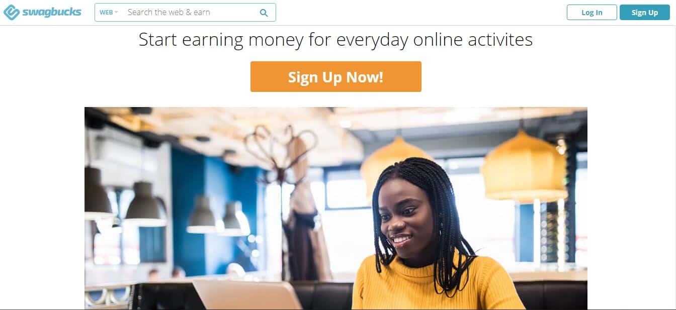 earn money from everyday online activities on swagbucks