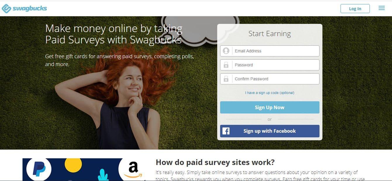 make money online by taking paid online surveys at swagbucks