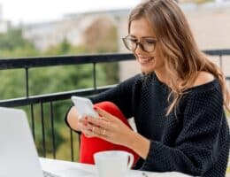 woman working non-phone work from home jobs