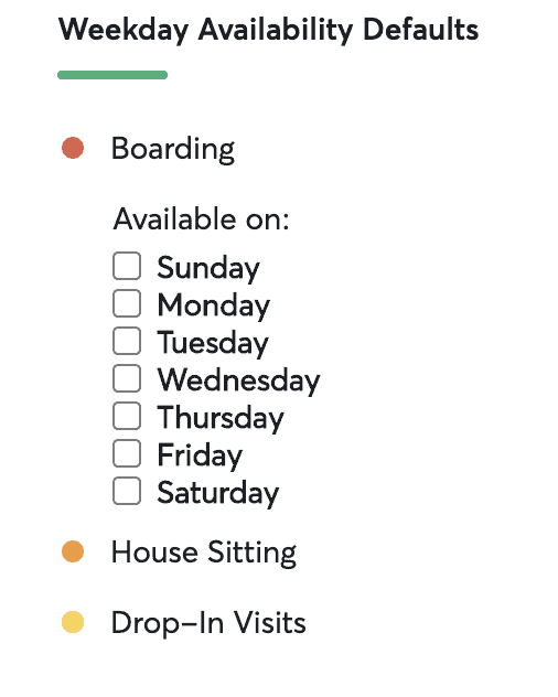 boarding schedule on rover
