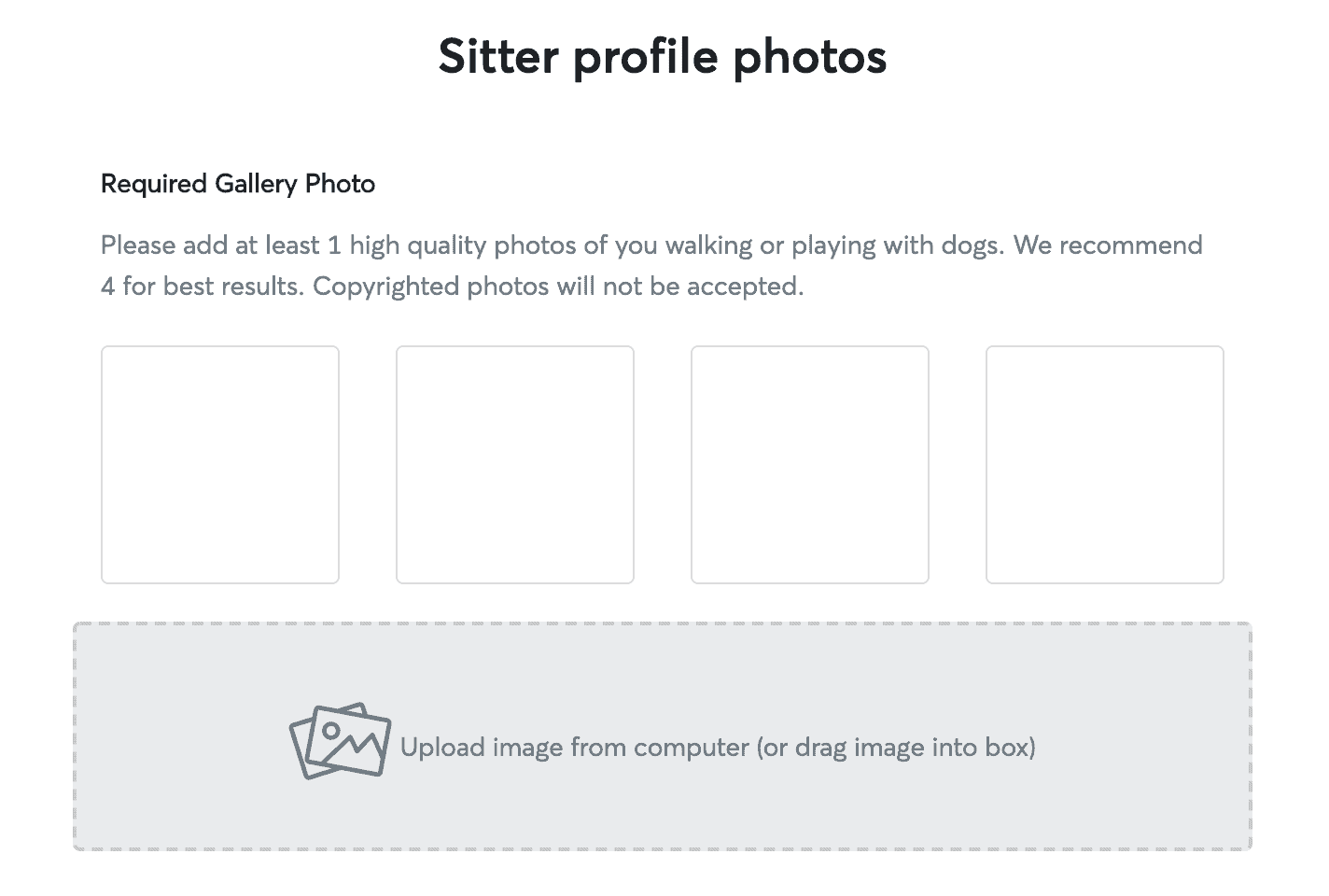 sitter profile photos