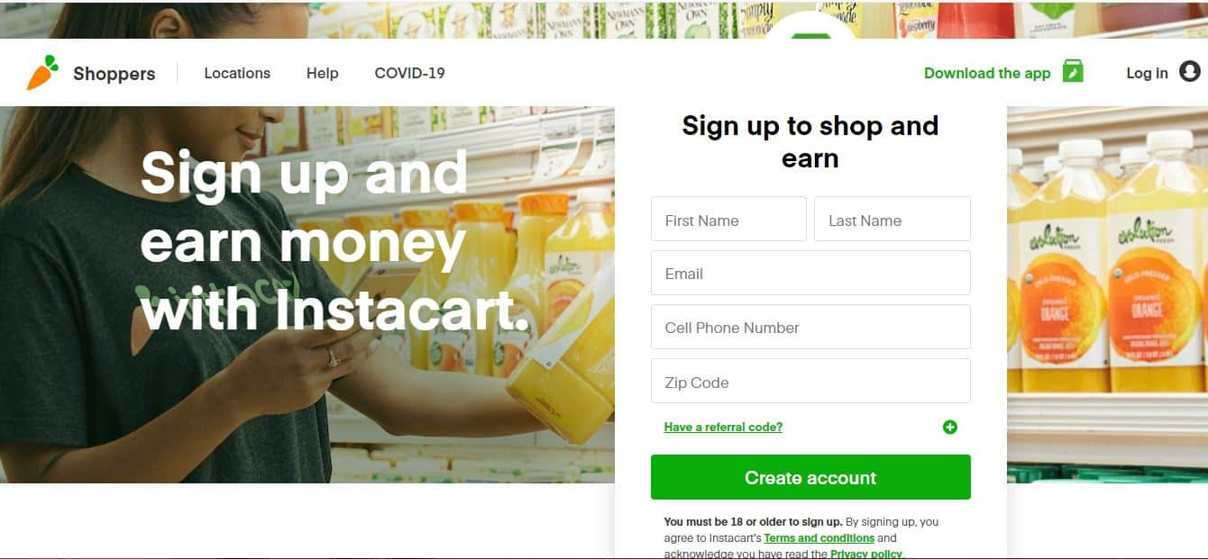 make money with the instacart app
