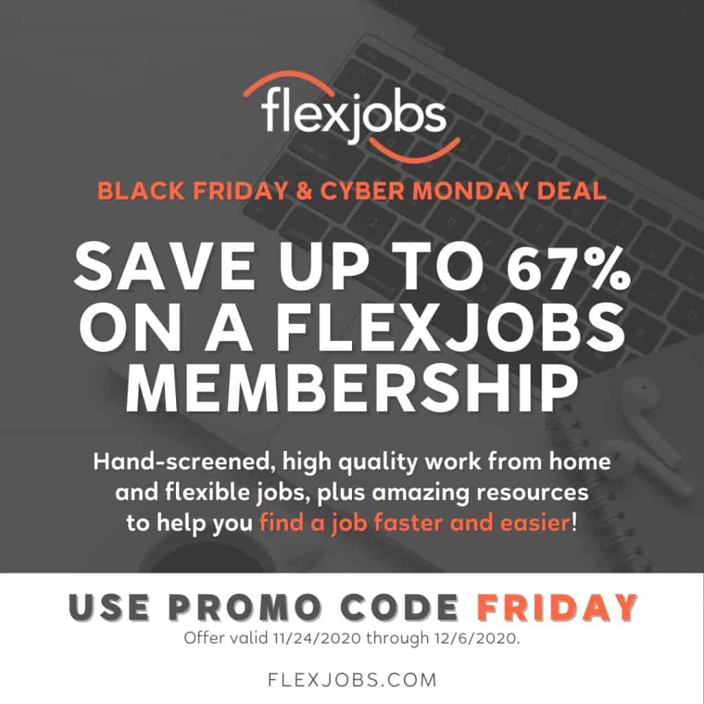 flexjobs black friday and cyber monday deals