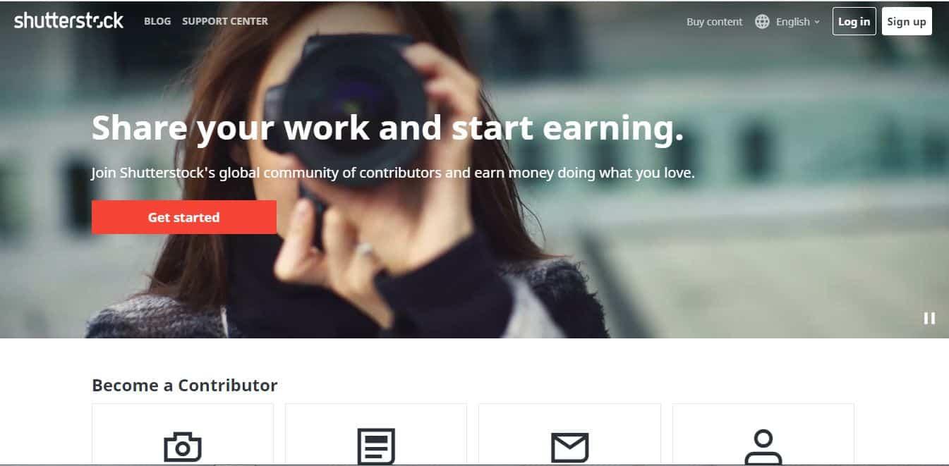start earning money selling photos on shutterstock